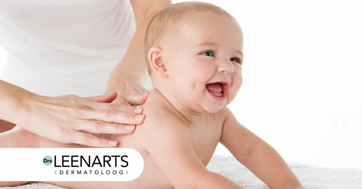 babymassage, massage olie, Drs Leenarts, dermatoloog