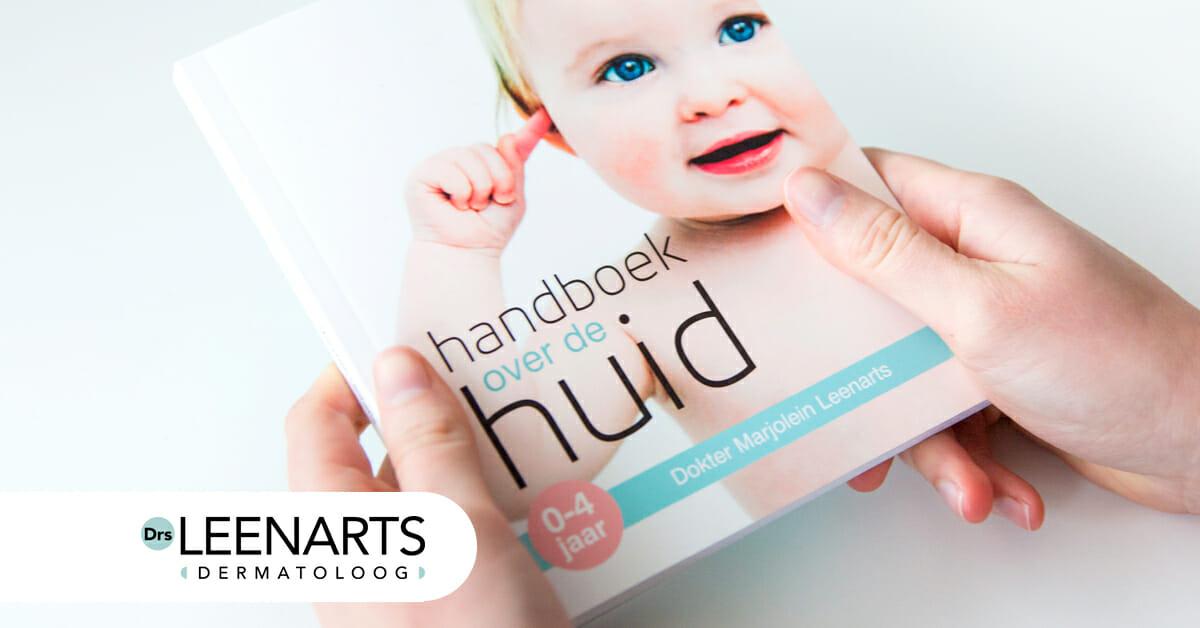 Handboek over de huid 0-4jaar van auteur dermatoloog marjolein Leenarts