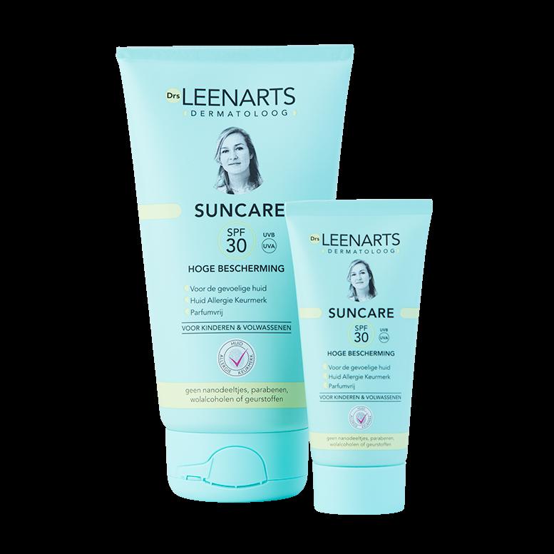 Drs Leenarts | Dermatoloog Suncare 150ml en de 30ml tube SPF30 zonnebrandcreme