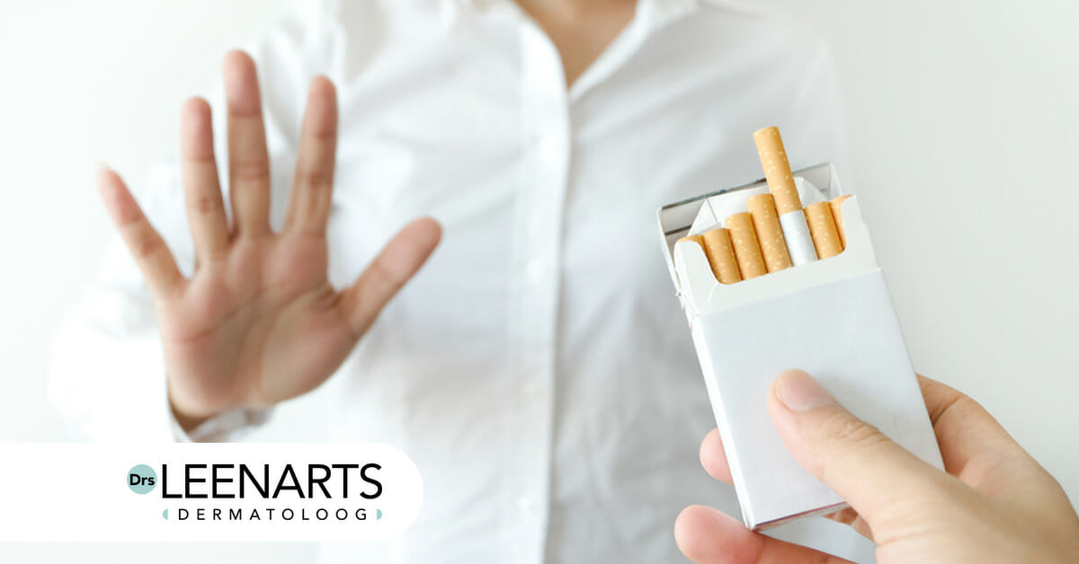 Zorg goed voor je huid, niet roken