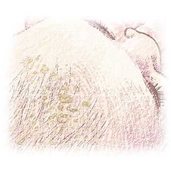 illustratie van kindje met berg voor adviespagina van drs leenarts.