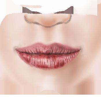 illustratie van droge lippen voor adviespagina van drs leenarts.