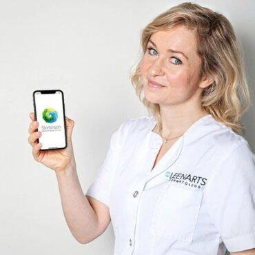 Samenwerking Skinvision met Etos en Marjolein Leenarts. Skinvision is een app om een huidcheck uit te voeren.